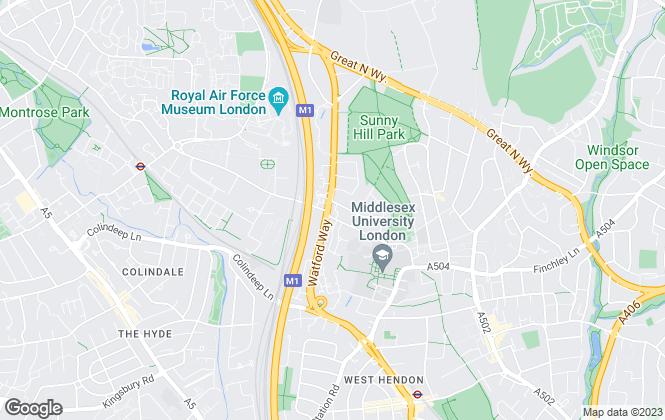 Map for Belvoir, Hendon