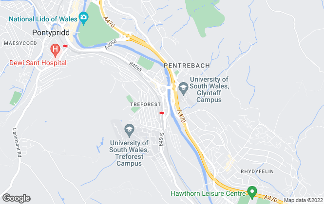 Map for Lion Estates, Treforest
