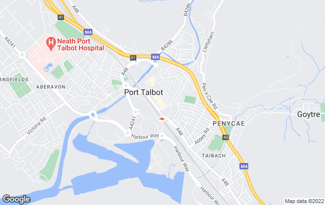 Map for Tony & Co, Port Talbot