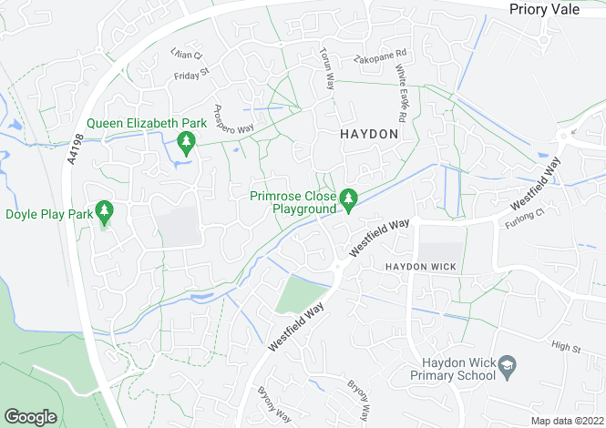 Map for Maybold Crescent, Haydon End, Swindon