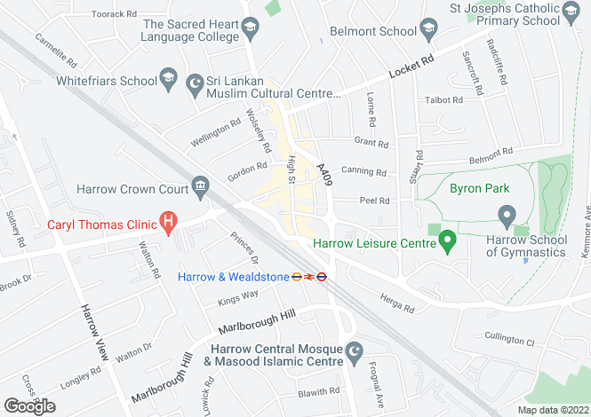 Map for High Street, WEALDSTONE