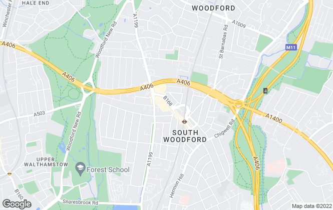 Map for Circa Residential Property, South Woodford