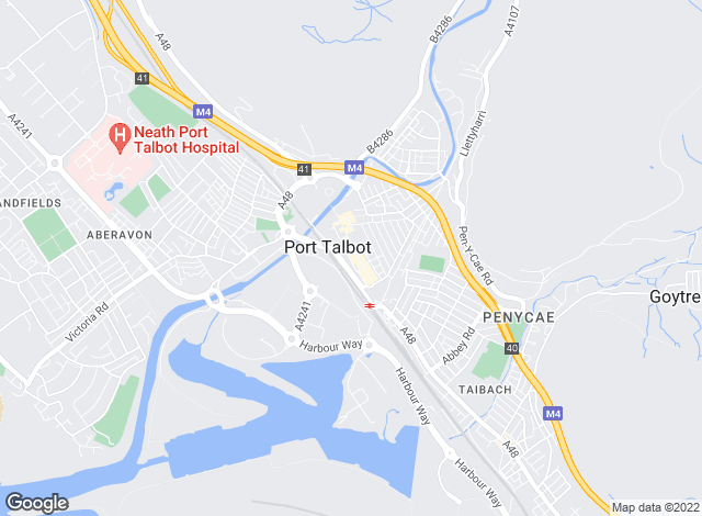 Map for Peter Morgan, Port Talbot