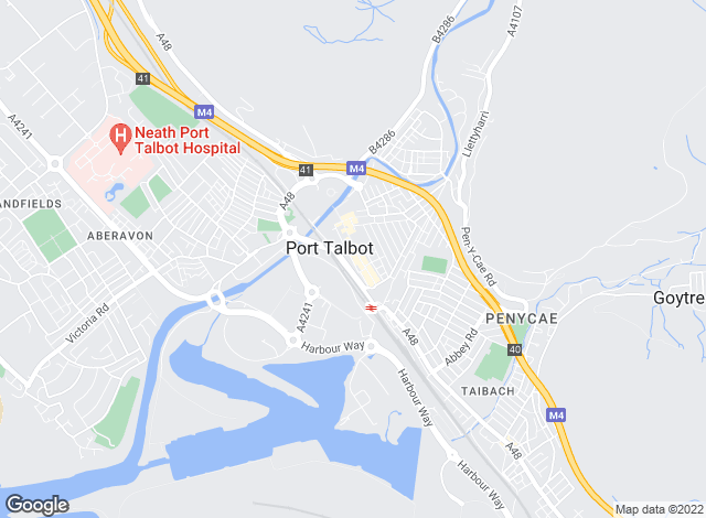Map for Payton Jewell Caines, Port Talbot