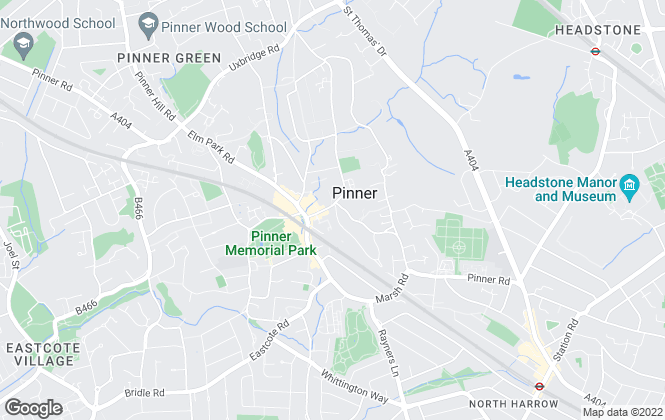 Map for Gibbs Gillespie, Pinner Sales