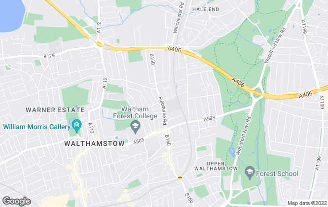 Map for Lettings Waltham Forest, Walthamstow