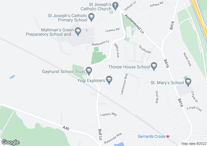 Map for Orchehill Avenue, Gerrards Cross, Buckinghamshire, SL9