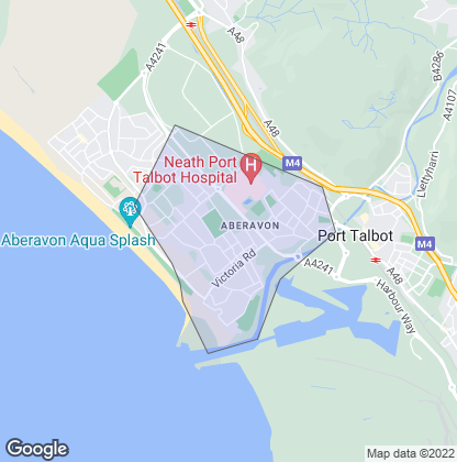 Map of property in Aberavon