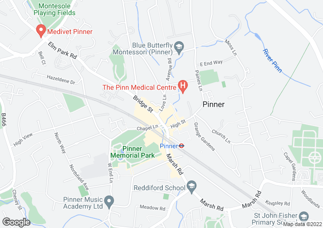 Map for The Radius, Red Lion Parade, Pinner, Middlesex, HA5