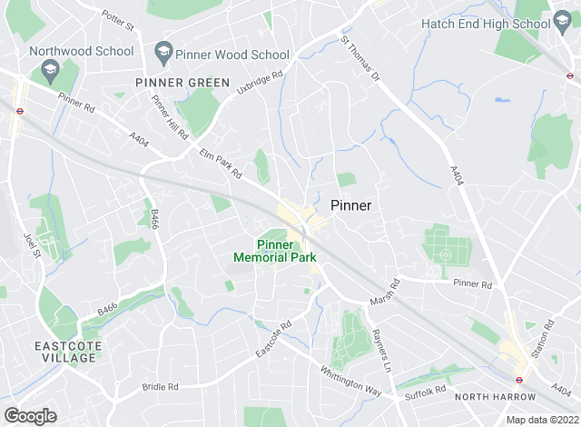 Map for Foxtons, Pinner