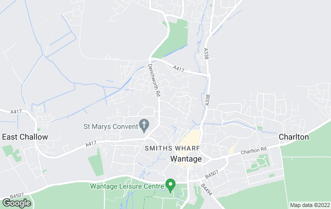 Map for Sallie McCullough, Wantage
