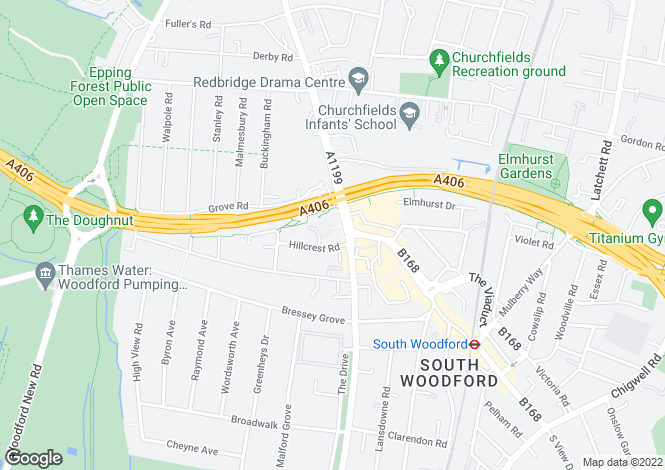 Map for Regency Court, South Woodford, E18