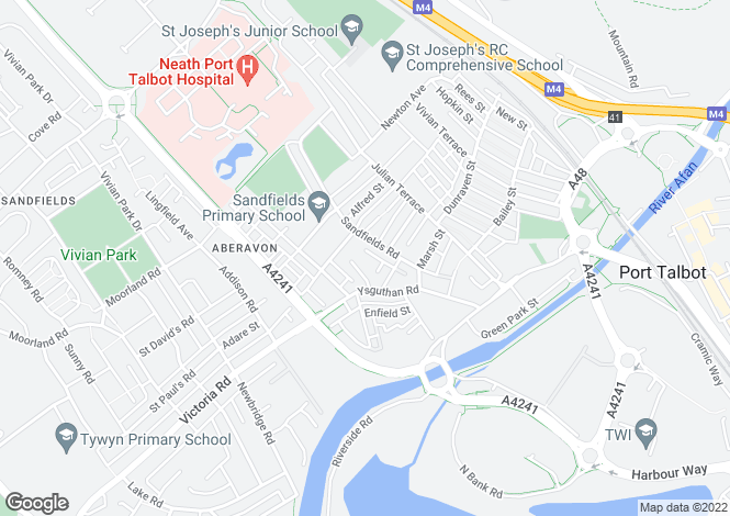 Map for Green Street, Aberavon - 1 Bedroom ground floor flat