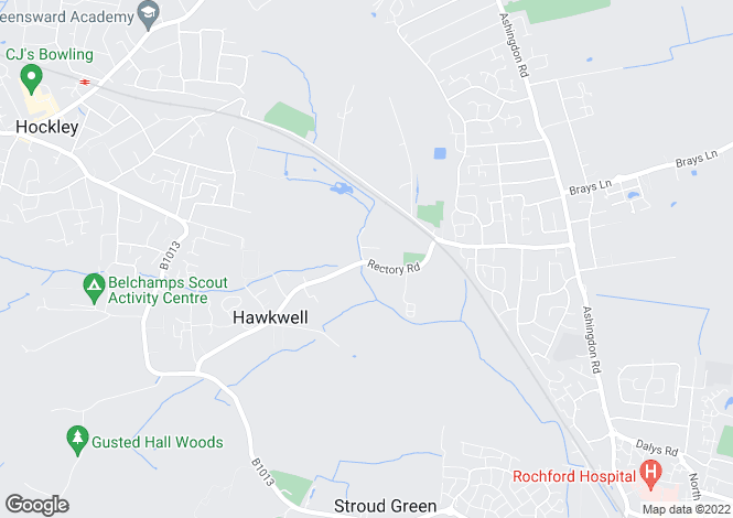 Map for Rectory Road Hawkwell  SS5