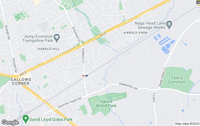 Map for Beresfords, Harold Wood