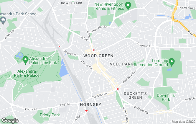 Map for Foxtons, Wood Green