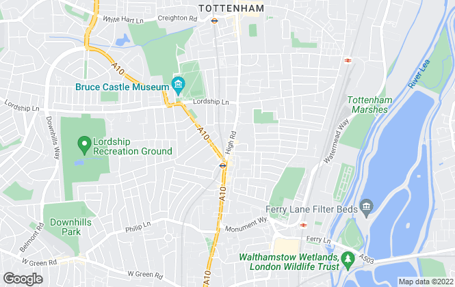 Map for Bairstow Eves, Tottenham