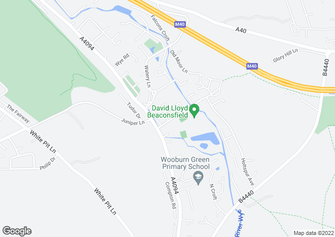 Map for Magnolia Way, Wooburn Green, High Wycombe, HP10