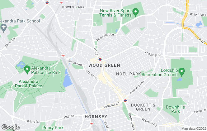 Map for W J Meade, Wood Green