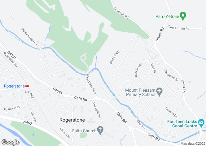 Map for Wood Close, Rogerstone, NEWPORT