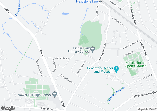 Map for Melbourne Avenue, Pinner, HA5