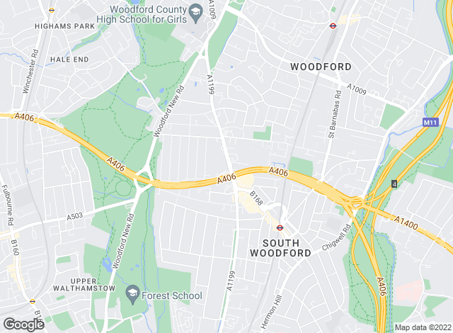 Map for Homes & Co, South Woodford