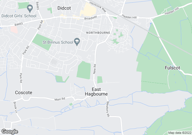 Map for New Road, East Hagbourne, Oxfordshire