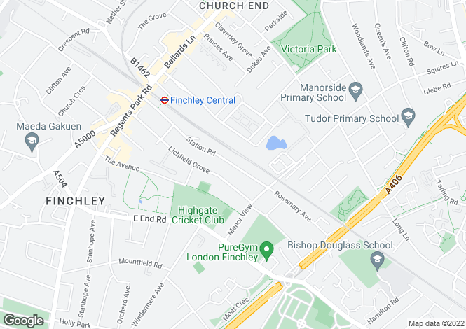 Map for Station Road, Finchley, London