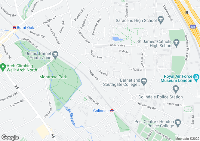 Map for Swan Drive, Eagle Drive, Colindale