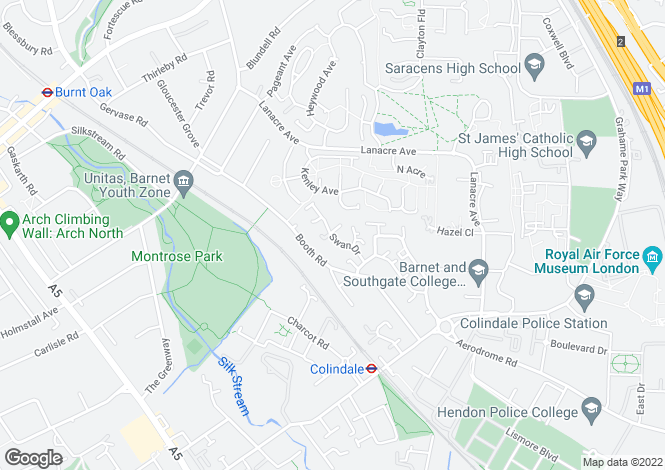 Map for Swan Drive, Colindale, London