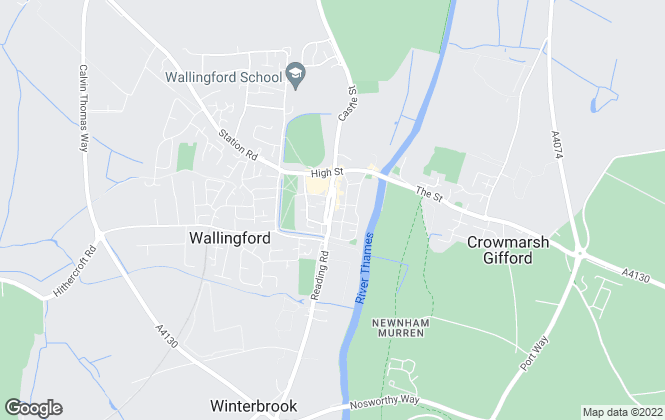 Map for Homebase Property Management, Wallingford