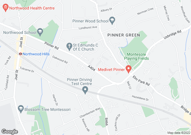 Map for Rickmansworth Road, Pinner, HA5