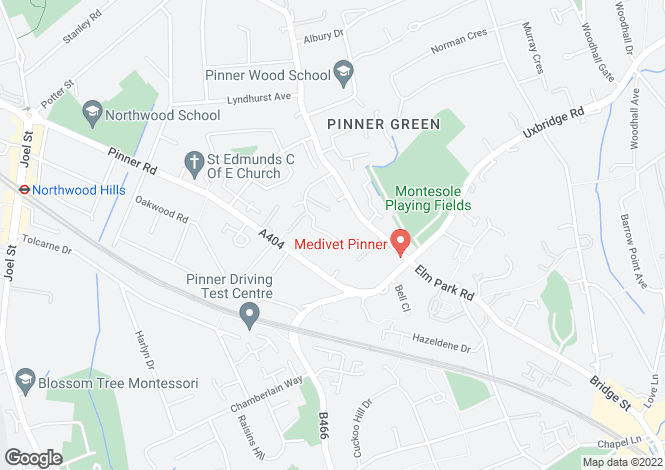 Map for Windmill Park, Pinner, Middlesex, HA5