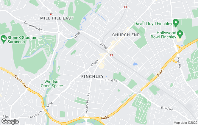 Map for Ellis & Co, Finchley