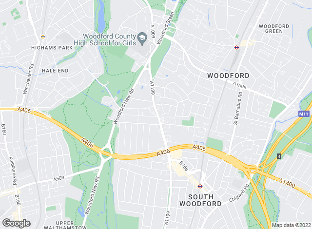 Map for Woodford Square, Woodford Square
