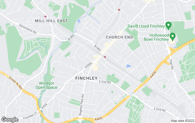 Map for Chancellors, Finchley