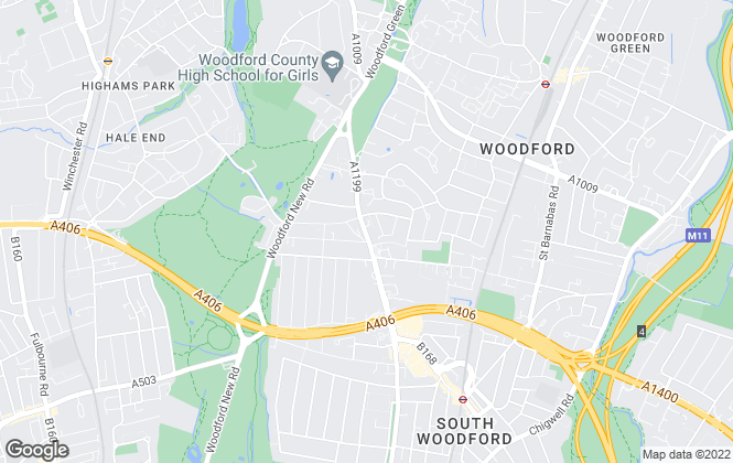 Map for West Essex Property Services Ltd, Woodford Green