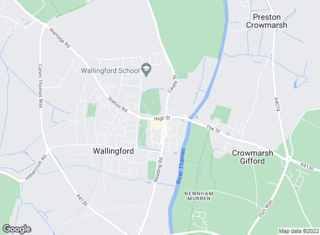 Map for Thomas Merrifield, Wallingford