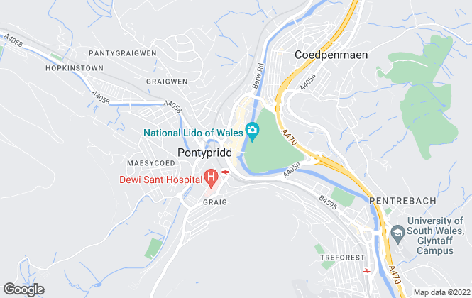 Map for Apex Estate Agent, Pontypridd