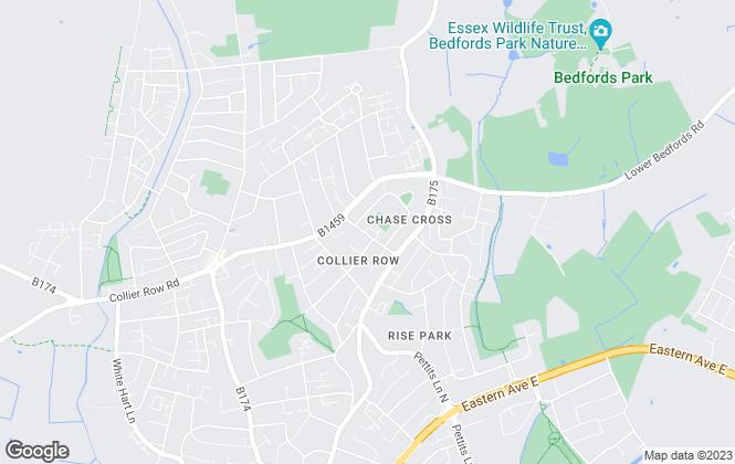 Map for CB Estates, Romford
