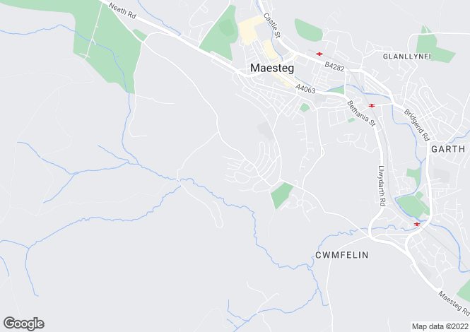 Map for 11 Llynfi Court, Maesteg, Maesteg, Mid Glamorgan