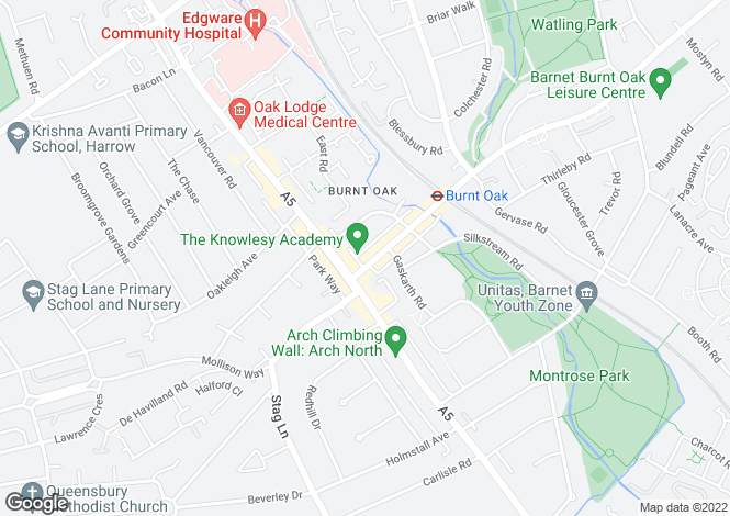 Map for Watling Avenue, Burnt Oak