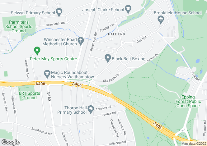 Map for Hale End Road, Woodford Green, Essex, IG8
