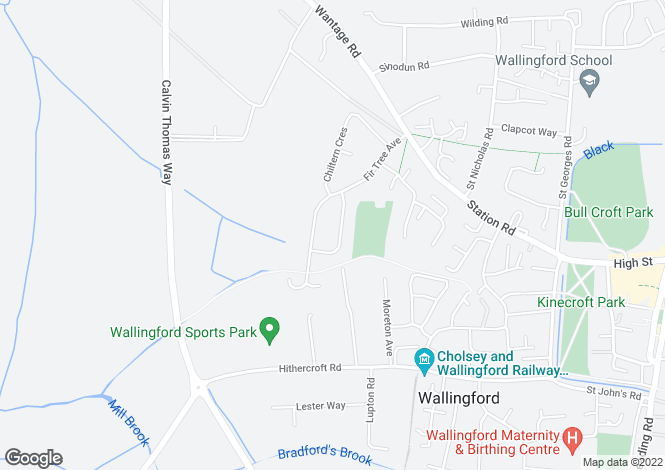 Map for Wallingford, Oxfordshire
