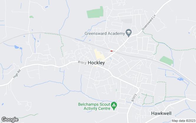 Map for Amos Estates, Hockley