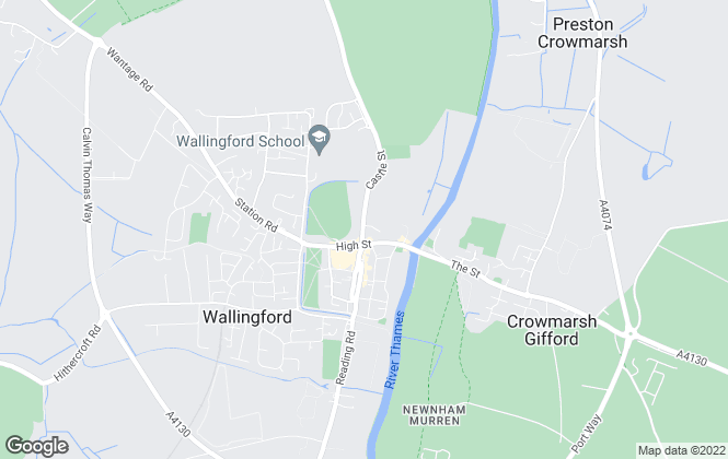 Map for In House, Wallingford