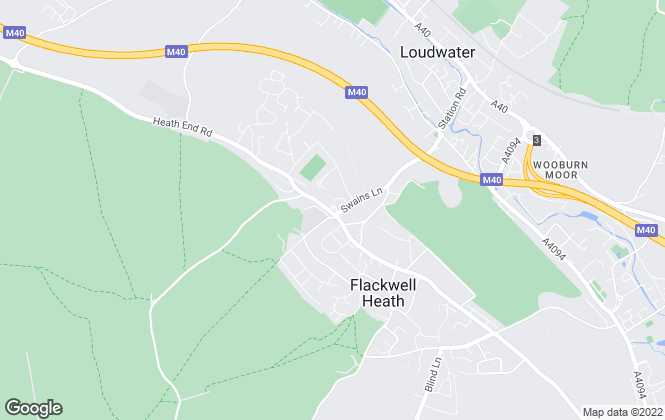 Map for The Frost Partnership, Flackwell Heath