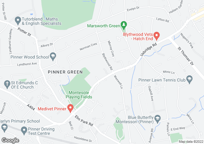 Map for Skillen Lodge, Uxbridge Road, Pinner, Middlesex, HA5