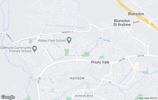 Map for Strakers, North Swindon