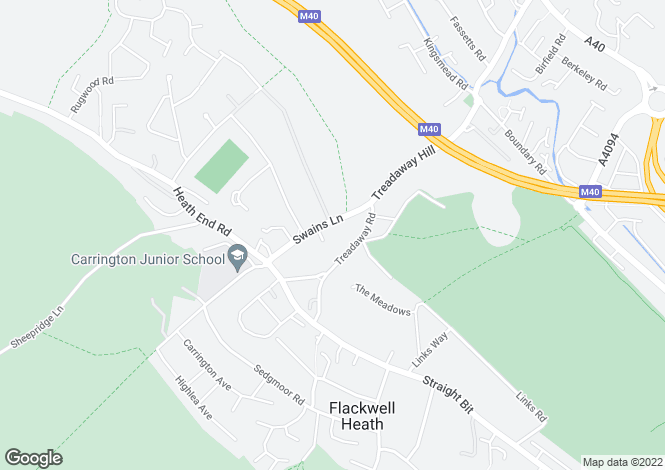 Map for Swains Lane, Flackwell Heath, High Wycombe, Buckinghamshire, HP10